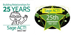 Sage ACT! 25th Anniversary Logos
