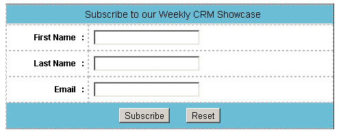 CRM Series Subscribe form