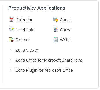 Zoho-productivity-apps