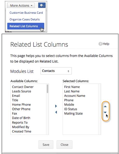 Related List Columns