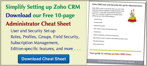 Free Zoho CRM Admin Guide: Administrator Cheat Sheet